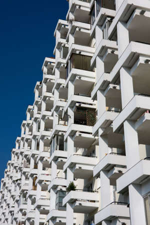Row of balconnies in modern block of flats. Stock Photo - 4845545