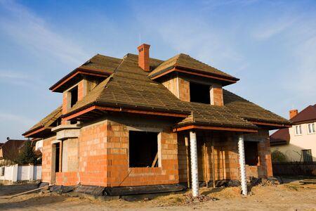 befejezetlen: Unfinished house, still under construction Stock fotó