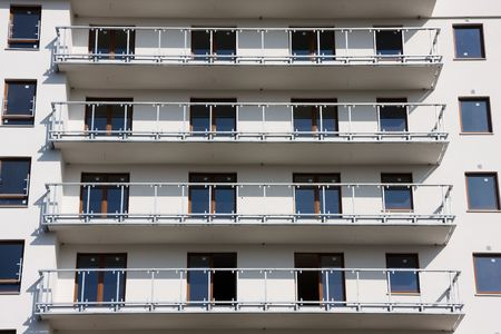 Balconies in a modern block of flats. Stock Photo - 5205823