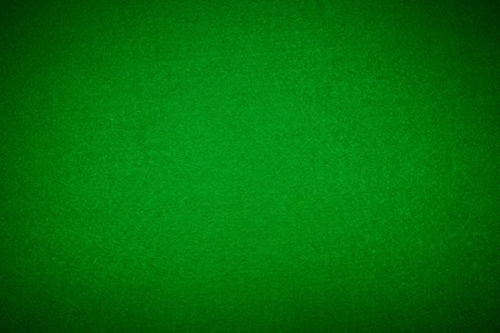 rummy: Close-up of green poker table felt background. XXL size.