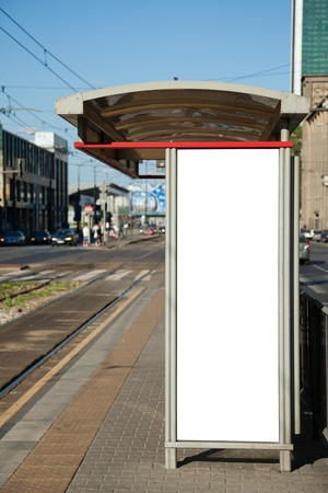 Bus stop with a blank billboard for your advertising Stock Photo - 7448228