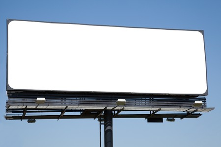 Blank billboard on blue sky ready for your advertisement Stock Photo - 7621557
