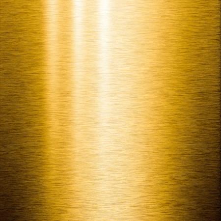 polished: Cepillado oro chapa con reflexiones sobre la superficie, �til para fondos Foto de archivo