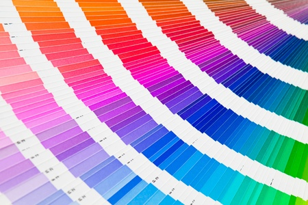 Open pantone color guide sampler Stock Photo - 8595311