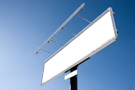 Blank billboard on blue sky for your advertisement Stock Photo - 8774198