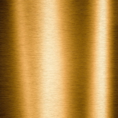 shiny metal: Brushed gold metallic plate useful for backgrounds Stock Photo