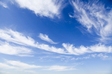 blue sky: Blue sky with white clouds, natural background