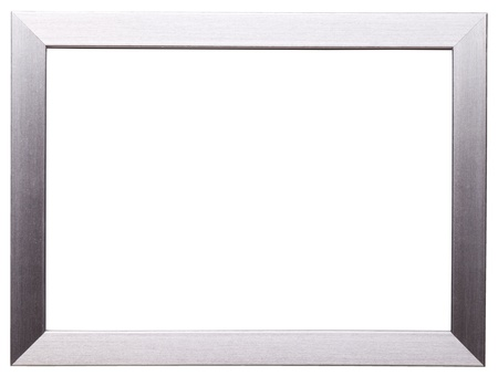 art deco frame: Classic silver frame isolated on white background Stock Photo