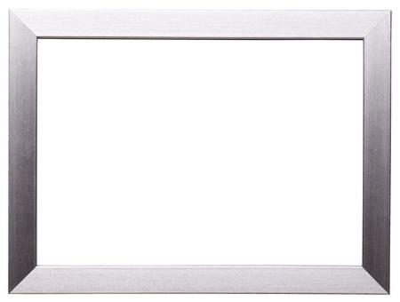 Klassiek zilveren frame geïsoleerd op witte achtergrond Stockfoto