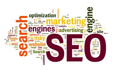 search results: search engine optimization in word cloud