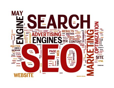 website words: search engine optimization in word cloud
