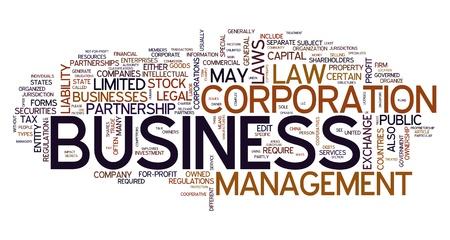 ley: Concepto de palabra de negocio en la nube de etiquetas Foto de archivo