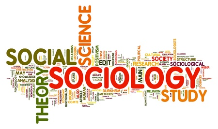 sociedade: Sociology concept in word tag cloud