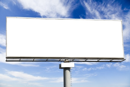 Blank billboard on blue sky for your advertisement Stock Photo - 10493609