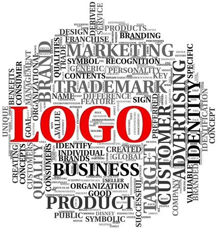 인식: 단어 태그 구름에 로고와 브랜드 관련 단어