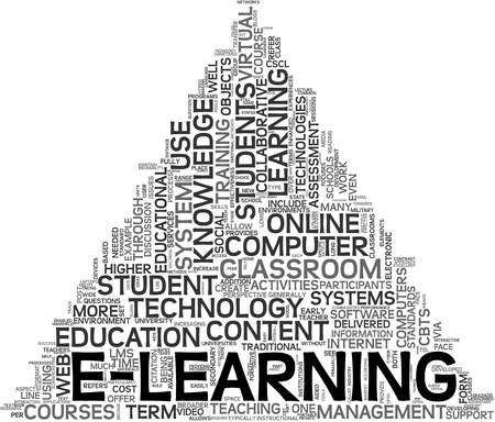 E-learning and education concept in tag cloud on white background Stock Photo - 10779559