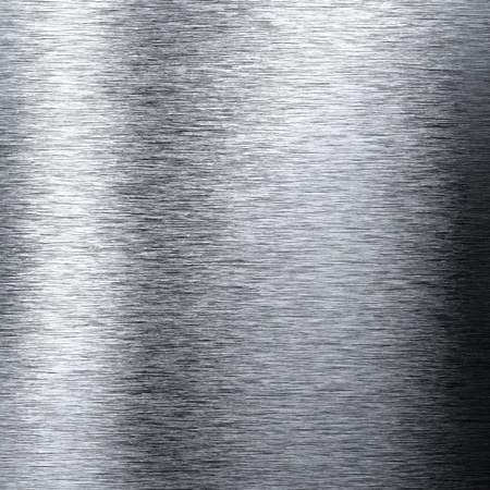 brushed: Aluminum metal background with reflections useful for background Stock Photo