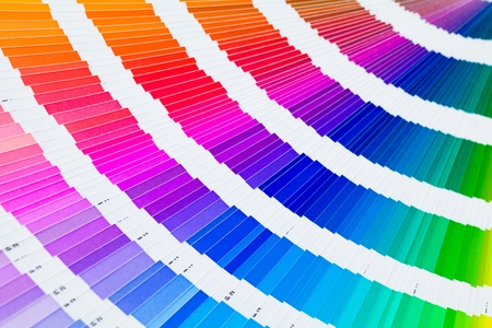 sampler: Open pantone color guide sampler Stock Photo