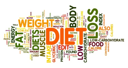 weightloss: Diet and weight loss related words concept in tag cloud