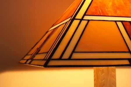 lampshade: Stained glass lamp