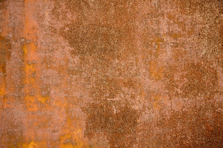 oxidized: Texture of old and rusty metal plate