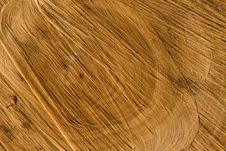 Close-up of old wheatered wood cut. Natural background. photo