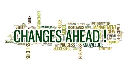 risks ahead: Cambios que se avecinan en concepto cloug palabra sobre fondo blanco