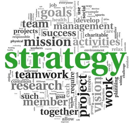 definicion: Estrategia y concepto de gestión en la nube de palabra de la etiqueta