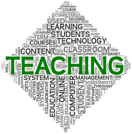 les geven: Onderwijs en opvoeding concept tag cloud op een witte achtergrond Stockfoto