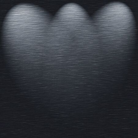 brushed metal texture template with 3 light sources stock photo