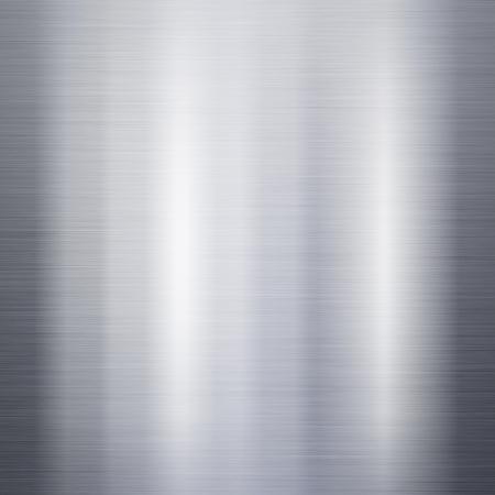 Geborsteld metaal aluminium achtergrond of textuur Stockfoto