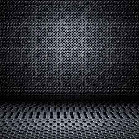 textuur: Metalen gaas textuur achtergrond met reflecties Stockfoto