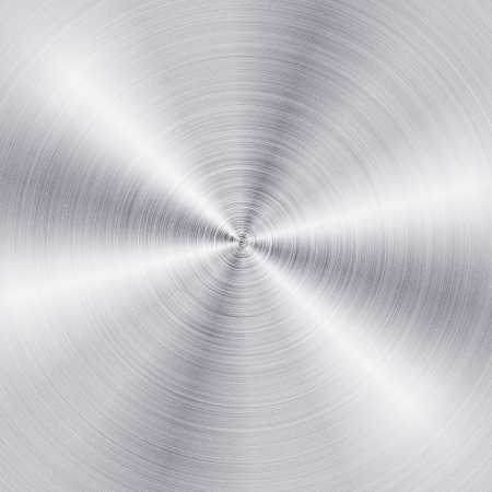 brushed metal: Background of brushed metal plate with reflections in circular shape