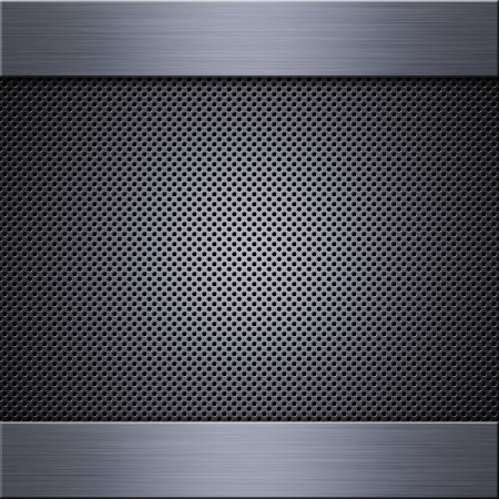 grill pattern: Metal mesh texture background with reflections Stock Photo