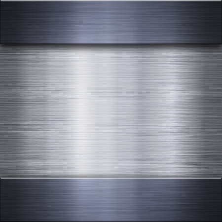 reflective background: Brushed metal aluminum background or texture Stock Photo