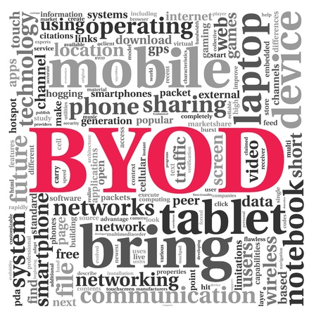 BYOD - bring your own device concept in tag cloud Stock Photo - 15257317