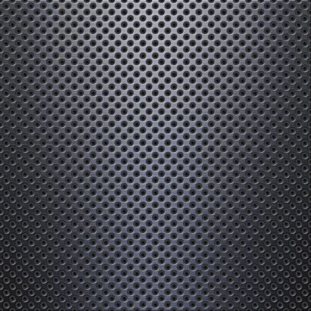brushed aluminium: Aluminum with holes background or texture