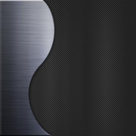 carbon steel: Carbon fibre texture and aluminum metal plate background