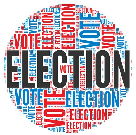 candidate: Election and vote  concept in word tag cloud on white background