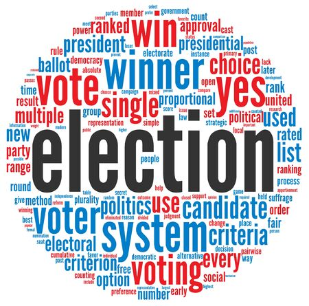 debate win: Election concept in word tag cloud on white background