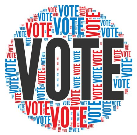 Vote in elections concept in word tag cloud on white background Stock Photo - 16212563