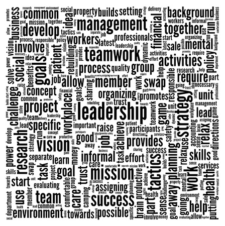 leadership development: Leadership concept in word tag cloud on white background Stock Photo