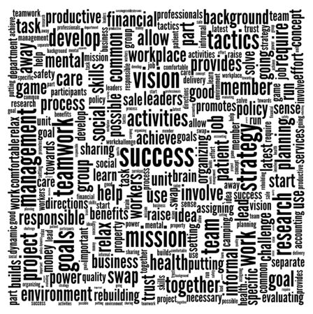 goal achievement: Success concept related words in tag cloud isolated on white