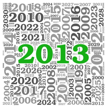New year 2013 concept in number tag cloud on white background Stock Photo - 16663217