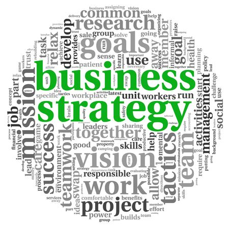 Strategy and management concept in word tag cloud Stock Photo - 16663199