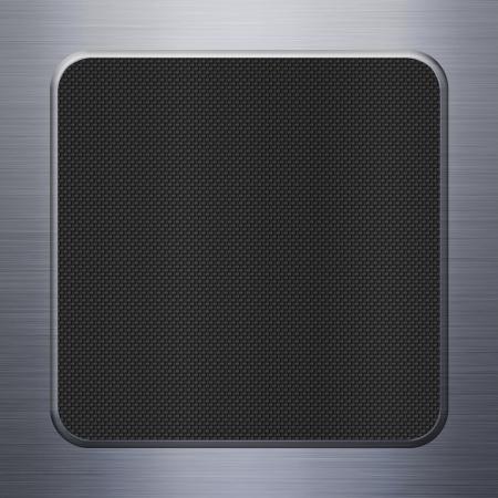 carbon fibre: Carbon fibre texture and aluminum metal plate background