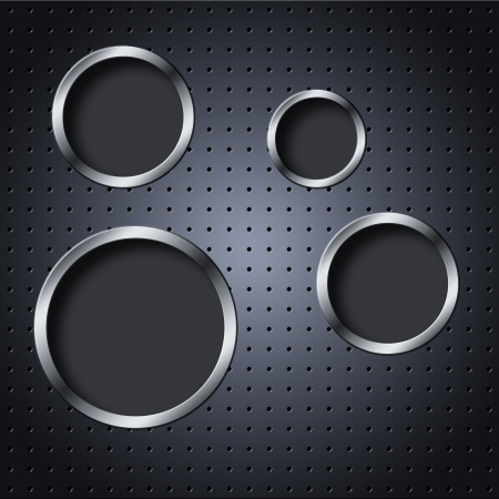 Metal mesh texture background with circle rings Stock Photo - 16663192