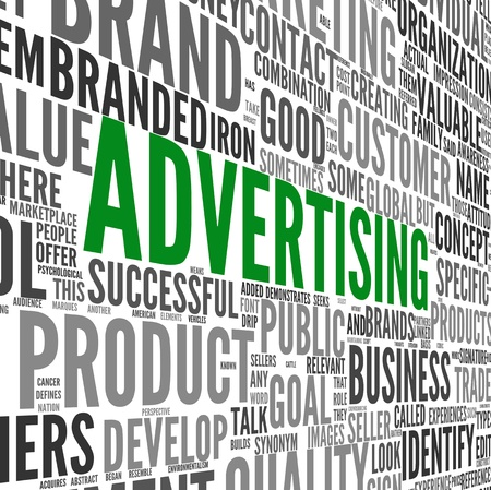 Advertising concept in word tag cloud on white Stock Photo - 16828421