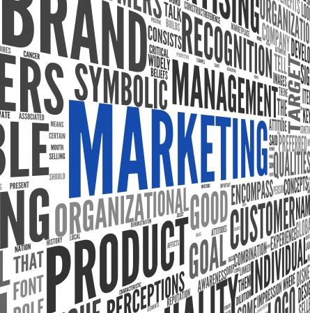 dirección empresarial: Concepto de marketing en la nube de palabra de la etiqueta en blanco