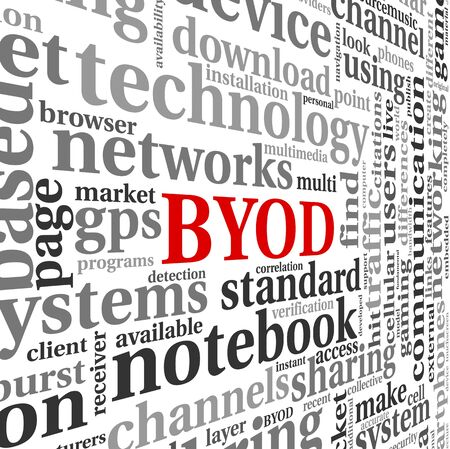 BYOD - bring your own device concept in tag cloud photo